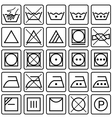 Set of laundry care symbols vector image