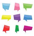 set of nine colorful cartoon comic balloons vector image
