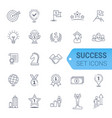 simple set of winning related line icons vector image