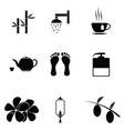 spa icon set vector image