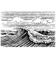 storm sea wave vector image