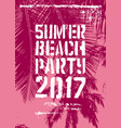 summer party typographic grunge vintage poster vector image vector image