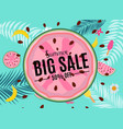 summer sale abstract banner background vector image vector image