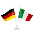 Table stand with flags of Germany and Italy vector image vector image