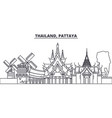 thailand pattaya line skyline vector image vector image