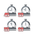 timers count time vector image vector image