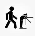 underground turnstile - icon of people pass vector image