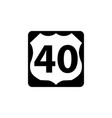 usa traffic road signs us route sign vector image