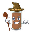 witch fresh chocolate splash on pouring mascot vector image vector image