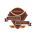 Football championship label vector image