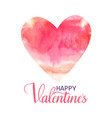 happy valentine s hand drawn lettering design with vector image