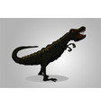 dinosaur tyrannosaur isolated on white vector image