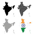 a set detailed accurate maps india vector image vector image