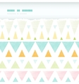 Abstract ikat triangles stripes horizontal torn vector image vector image
