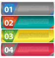 Abstract modern banner with numbered EPS10 vector image vector image