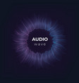 audio wave music sound abstract circle equalizer vector image