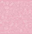baby toys seamless pattern on pink background vector image