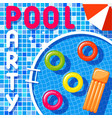 banner of a pool party vector image vector image