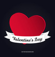 banner on the theme of valentine day vector image vector image