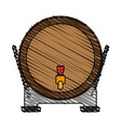 barrel beverage dispenser vector image