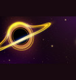 black hole in space planets in solar system vector image