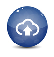 Blue Upload to Cloud Icon vector image vector image