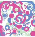 circles on decorative background vector image vector image