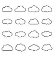 clouds line art icon isolated on white background vector image