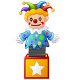 clown jumping out from a box vector image