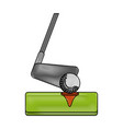 club and ball golf sport vector image vector image