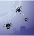 creepy spiders background vector image