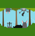 cute linear endless with fun wolf vector image