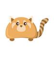 cute orange raccoon animal vector image vector image