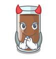 devil fresh chocolate splash on pouring mascot vector image vector image