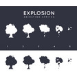 explosion explode effect animation with smoke vector image