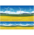field and wind generators vector image vector image