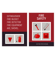 fire safety brochure concept template vector image vector image