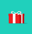 gift box icon flat cartoon design vector image vector image