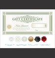 gift certificate retro vintage template 3 vector image