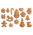 gingerbread cookies christmas holiday food vector image