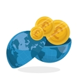 Global economy design financial and money concept vector image vector image