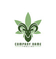 goat cannabis logo vector image vector image