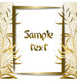 golden bamboo frame vector image vector image