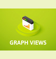graph views isometric icon isolated on color vector image