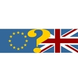 Great Britain and European Union relationships vector image vector image
