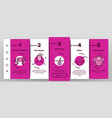 hair loss onboarding icons set vector image vector image