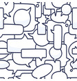 hand drawn speech bubbles seamless pattern on vector image vector image