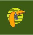 head trotucan bird vector image vector image