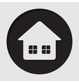information icon - home with two windows vector image vector image