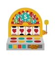 Jackpot machine icon vector image